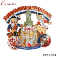 Esmalte oro medallón para regalos (LM1253)