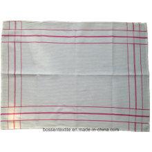 Cheap Custom Cotton White Checked Tea Towel Table Dish Cloth Cup Mat