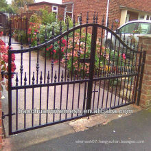 black wrought iron fencing gates