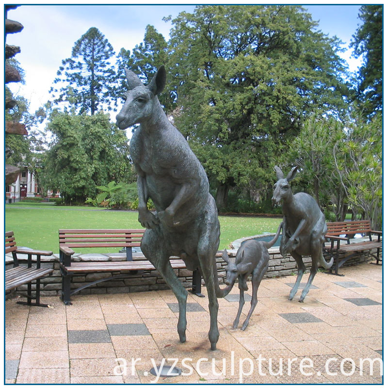 Bronze Kangaroo Sculpture