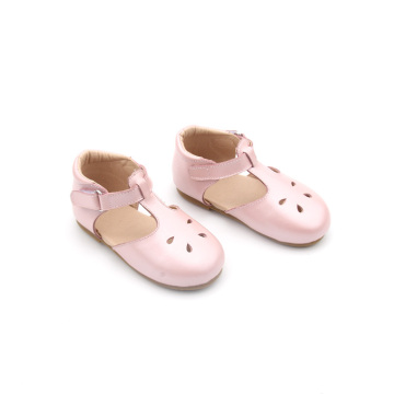 Skórzane T-Strap Kids Girl Dress Shoes for Children