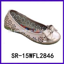 2015 zapato dressy del cabrito de las nuevas muchachas dulces del diseño para el zapato de las muchachas de las muchachas