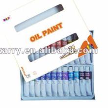 Non-toxic oil paint set 24 colours 12ml per tube