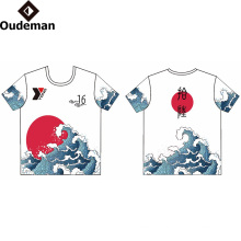 Sublimated Print Logo Custom Gym T Shirt