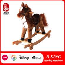 Animal de baloiço de pelúcia cavalo de balanço para crianças