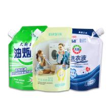 OEM Laundry Detergent Package Bag Customized Gravure Printing Aluminum Foil Spout Bags