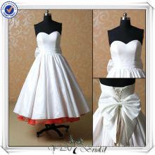 JJ3504 Sweetheart Taffeta Tea Length Sexy Short Wedding Dresses