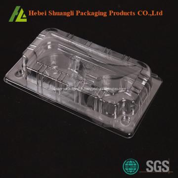 Emballage jetable en plastique de plateau pour le gâteau