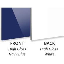 3 MM alto brilho azul marinho / alto brilho branco ACP