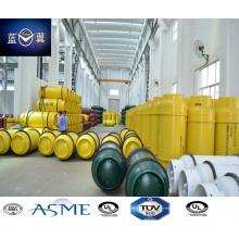 800L carbono aço soldado do cilindro de gás de amónia, cloro