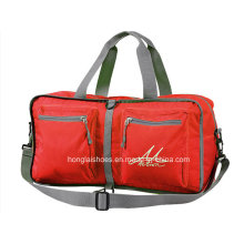 Red Waterproof fashion Lightweight Travelling Bags