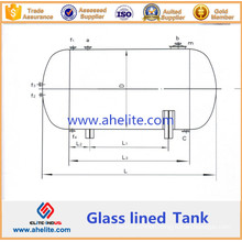 High Pressure Reactor Glass Lined Tank (horizontal type)