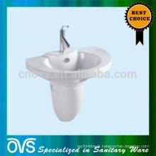 Salle de bains WC mur accroché lavabo piédestal lavabo en céramique avec support