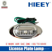Offroad License plate lamp LED plating lamps number plate light side marker lamp