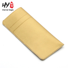 Logo printed leather glasses bag with low price