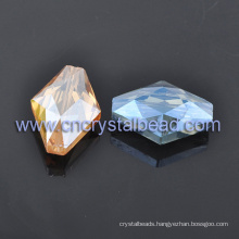 Fashion Rhombus Crystal Glass Faceted Beads