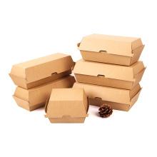 Corrugated box E/F flute carton paper Corrugated Paper Hamburger Box Packaging