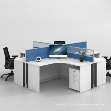 4 Way Workstation for Office Working Space