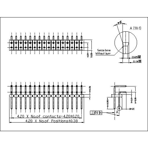 4.20 mm Pin Header DUAL ROW ANGLE TYPE PHHR01-XXS