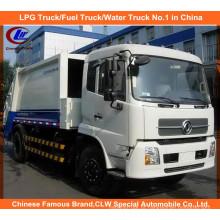 Heavy 6 rodas Dongfeng Tianjin 6tons caminhão de lixo comprimido 8m3 caminhão de lixo compactador