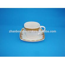 300CC Taza de café de porcelana turca con platillo