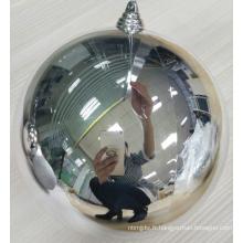 Boules en plastique de Noël 20cm Silver Shatterproof