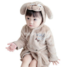 Animal Head Flannel Nightgown Peignoir Children Leisurewear