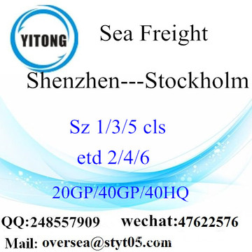 Shenzhen Port Sea Freight Shipping vers Stockholm
