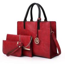 Ladies Shoulder crossbody Bag Large Capacity Tote Bags popular Pu Leather 3Pcs Handbag set