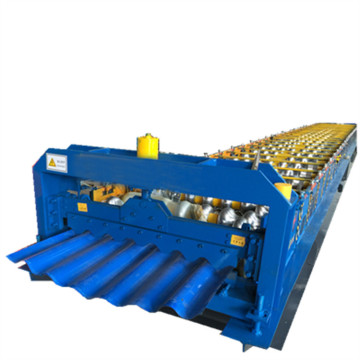 Lembaran Roofing Corrugated Roll Forming Machine Line