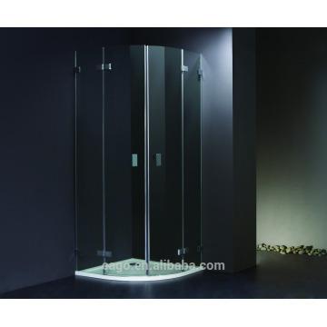 EAGO Cabine de duche de vidro temperado de alumínio