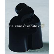 récipient de sel et de poivre en céramique de couleur noire JX-17NB