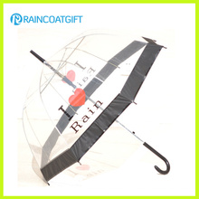 Fashion Transparent Straight Poe Umbrella for Promotion
