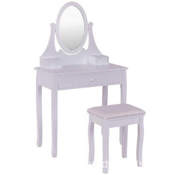 High Quality bedroom Wooden Cheap Makeup Dressing Table, White