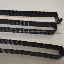Black powder aluminum snake tube for battery cooling