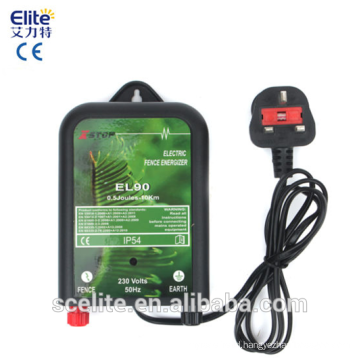 EL90 Mains Electric Fence Energizer Unit 10km 230v 0.5J CE RoHS 1 YR Warranty