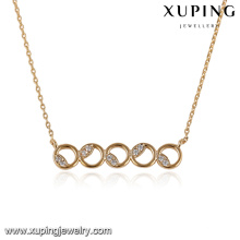 43361-Xuping Girl Gift Jewelry collier pendentif en or