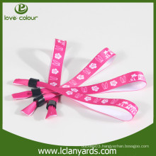 Custom made single side printed sublimation wristbands