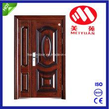 Puerta de seguridad de acero, puerta de material de acero laminado en frío, puerta doble