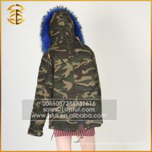 China Hersteller OEM Service Fox Winter Mantel Pelz Parka