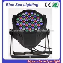 Factory price 54x3w dj light disco light par64 led lighting lamp