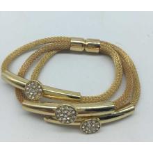 Bracelet d'aimant de corde de cuivre (XJW13552)