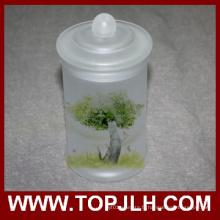 Verre dépoli blanc Storage Jar Sublimation joint Pot