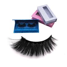 DL001 Hitomi eyelash vendor imported korea synthetic fiber silk lashes double layer private label 25mm silk eyelashes