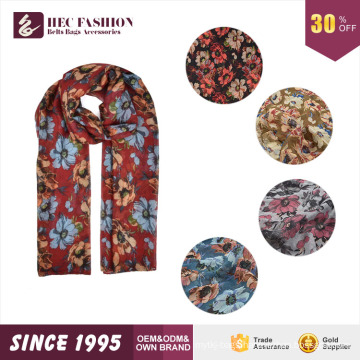 HEC 2016 New Designed Product Fashion Cheap Price Floral Printed Scarf and Shawl