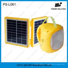 Зеленой энергии Перезаряжаемые фонарик Солнечный фонарь с мобильного зарядного кабеля