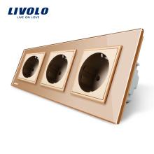 Livolo Manufactory Стандарт ЕС тройные розетки VL-C7C3EU-13