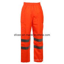 Class 2 Safety Oxford avec des pantalons de sécurité réversibles à haute visibilité PU