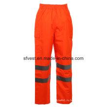 Класс 2 Безопасность Оксфорд с ПУ Высокая видимость Светоотражающие безопасности штаны