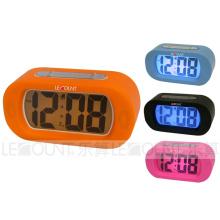 Silikon Digtal LCD Schreibtischuhr mit Alarm und Snooze Funktionen (LC978)
